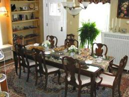 A White Rose B&B Breakfast Table
